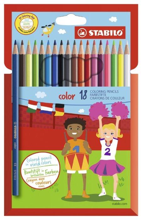 STABILO Цветные карандаши color 18 цветов (1918/77-01)
