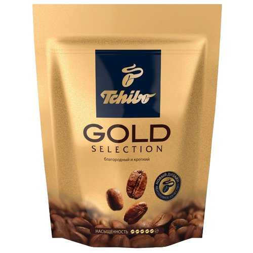 Кофе растворимый Tchibo Gold Selection, пакет, 75 г tchibo exclusive decaf кофе растворимый 100 г