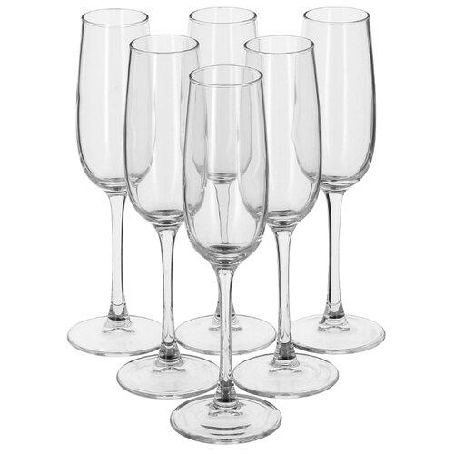 цена на Luminarc Набор фужеров для шампанского Allegresse 6 шт 175 мл J8162