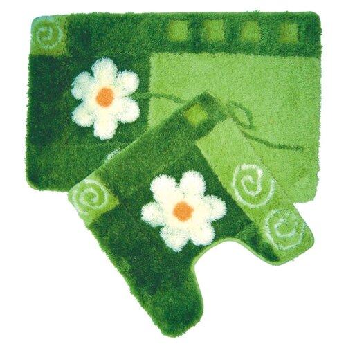 Комплект ковриков IDDIS MID140AS, 50х80 см, 50х50 см зеленый