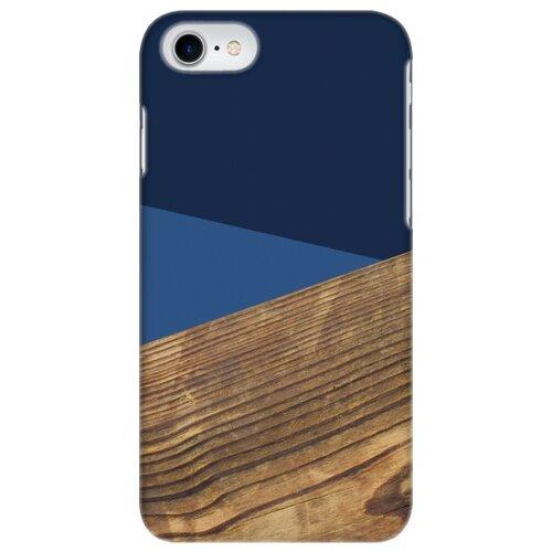 Чехол Mitya Veselkov IP7.MITYA-036 для Apple iPhone 7/iPhone 8 синий древесный