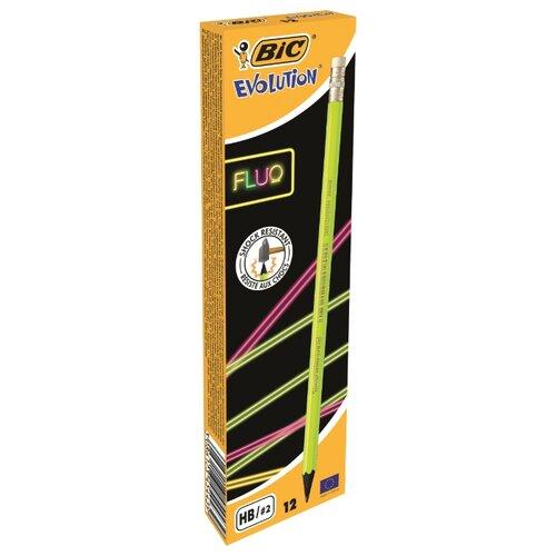 Купить BIC Набор чернографитных карандашей Evolution Fluo 12 шт (942882), Карандаши