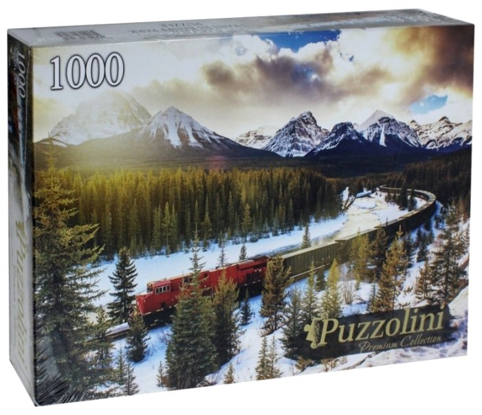 Пазл Рыжий кот Puzzolini Поезд в парке Банф (GIPZ1000-7728), 1000 дет.
