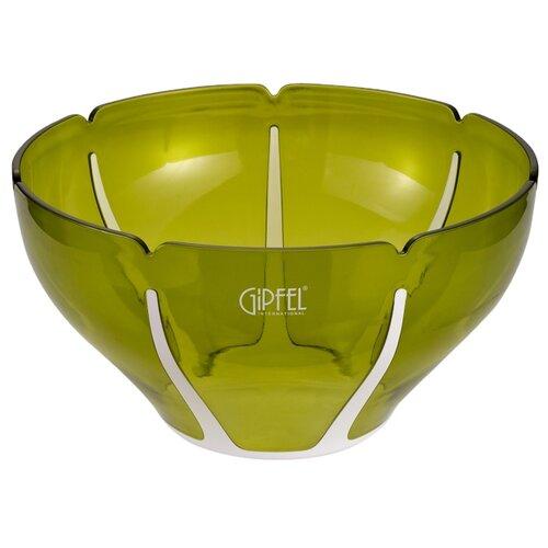 GIPFEL Салатница с двойными стенками Amadeus 26 см белый/зеленый салатница с двойными стенками amadeus 16 3х16 3х8 см зеленая 9441 gipfel