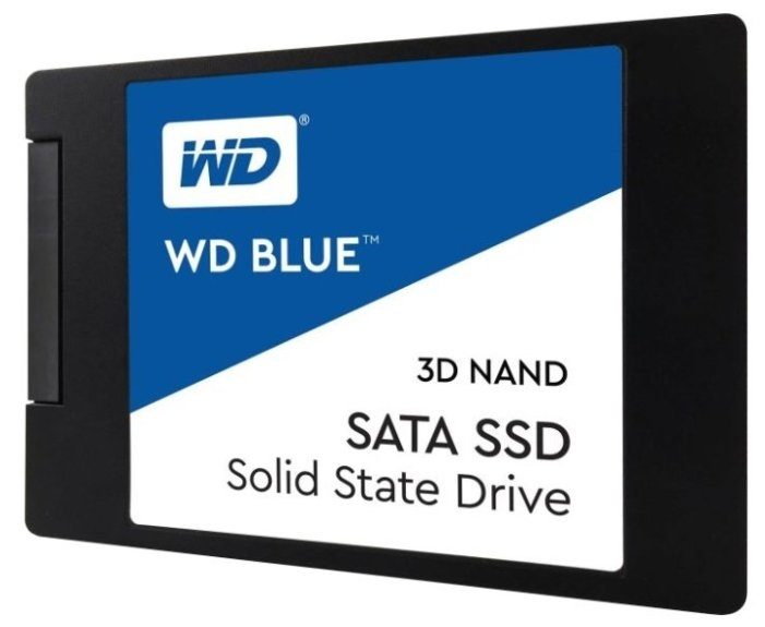 Твердотельный накопитель Western Digital WD BLUE 3D NAND SATA SSD 250 GB (WDS250G2B0A)
