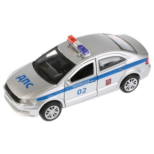 Купить Легковой автомобиль ТЕХНОПАРК Volkswagen Polo Полиция (POLO-P) 12 см серебристый/синий, Машинки и техника