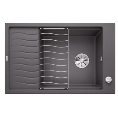 Врезная кухонная мойка 78 см Blanco Elon XL 6S с клапаном-автоматом 524835 темная скала кухонная мойка blanco elon xl 6s silgranit жасмин с клапаном автоматом