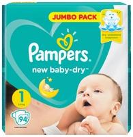 сухая молочная смесь Pampers подгузники New Baby Dry 1 (2-5 кг) 94 шт.