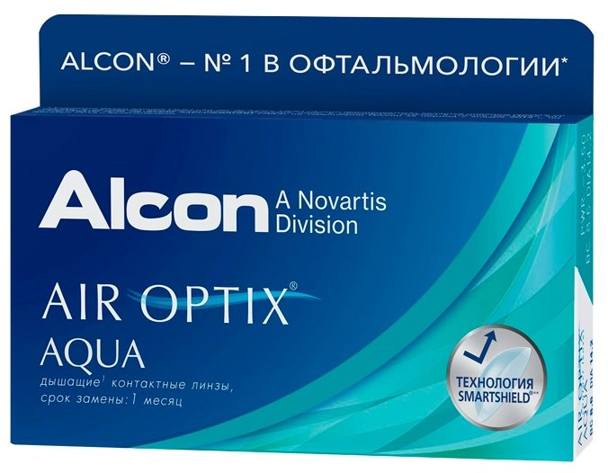 Контактные линзы Air Optix (Alcon) Aqua (3 линзы) R 8,6 D -4,75