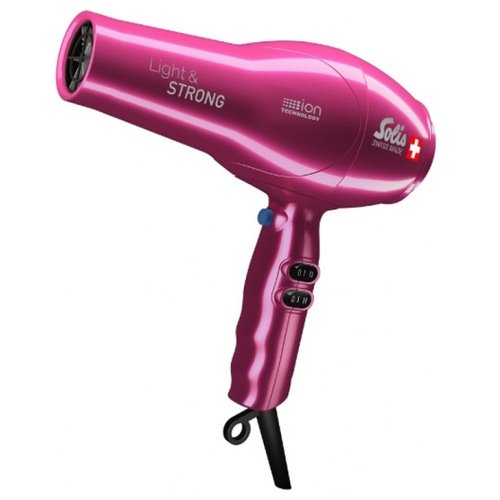 Фен Solis 969.42/969.45 Light & Strong pink фен solis fastdry