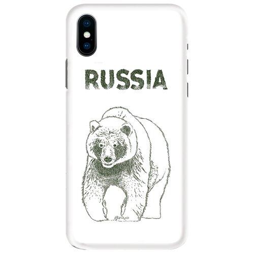 Чехол Mitya Veselkov IP10.MITYA-036 для Apple iPhone X медведь обложка для паспорта кожаная mitya veselkov мишки на велике с шариками
