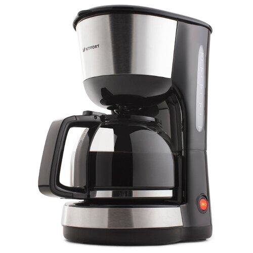 Кофеварка Kitfort KT-715 черный/серебристый