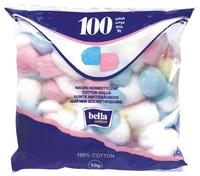 Ватные шарики Bella Cotton косметические разноцветные 100 шт. пакет