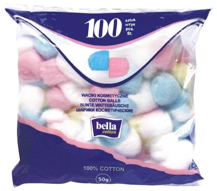 Ватные шарики Bella Cotton цветные 100шт C100-007