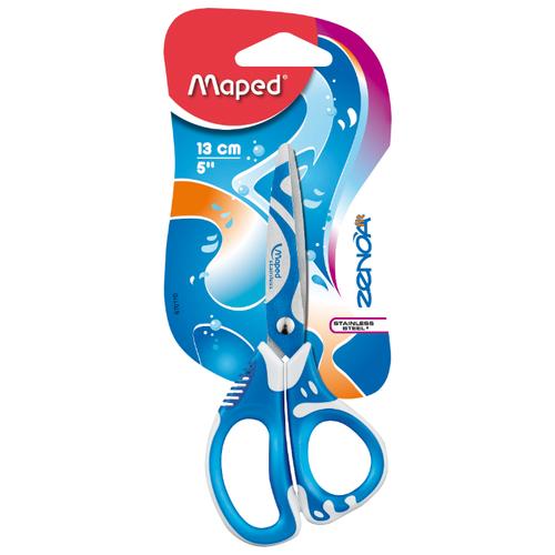 Купить Maped ножницы детские ZenoaFit 13см асимметричные белый/голубой, Ножницы