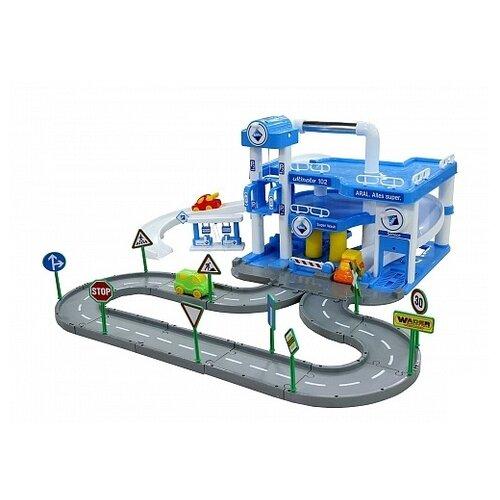 Купить Wader Паркинг ARAL 40428 синий/белый, Детские парковки и гаражи