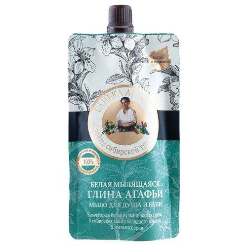 Мыло-глина жидкое Рецепты бабушки Агафьи Банька Агафьи Глина белая мылящаяся, 100 мл