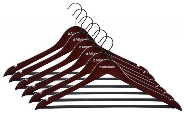 Вешалка Attribute Набор для одежды Redwood красное дерево