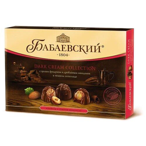 цена на Набор конфет Бабаевский Dark Cream целый фундук и дробленый миндаль 200 г