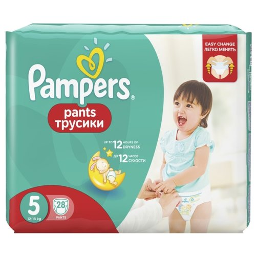 Купить Pampers трусики Pants 5 (12-18 кг) 28 шт., Подгузники