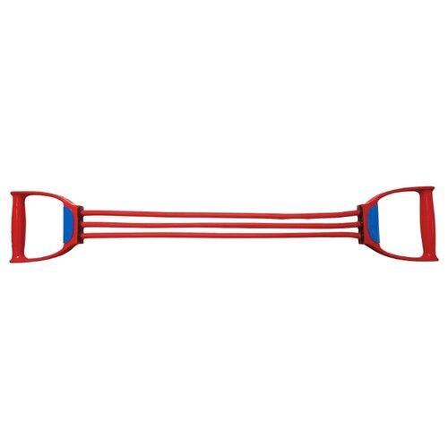 Эспандер плечевой Indigo Latex 3 жгута Medium 70 см красный