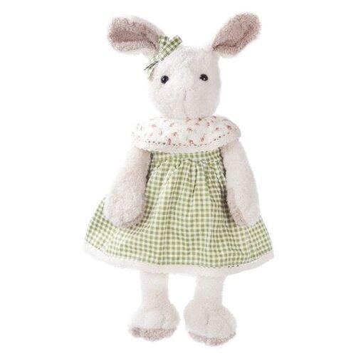 Мягкая игрушка Angel Collection Зайка Мэри в зеленом платье с бантиком 23 см