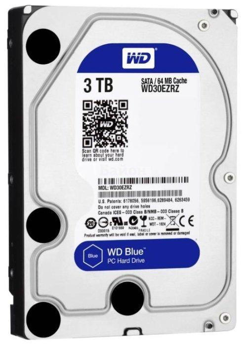 Жесткий диск WD Blue WD30EZRZ, 3Тб, HDD, SATA III, 3.5