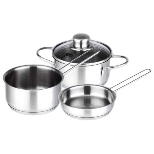Набор посуды Fissler Snack Set 831603 3 пр. серебристый