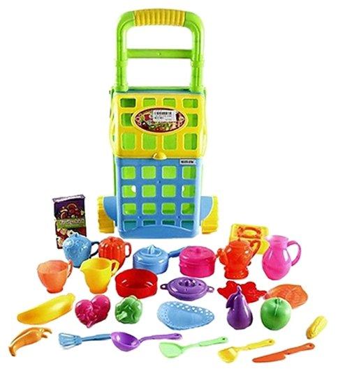 9923ba1d93d09 Набор продуктов с посудой Наша игрушка Набор посуды и продуктов 070-079A