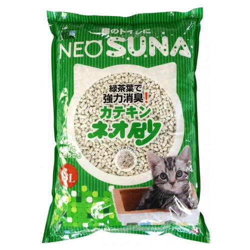 Комкующийся наполнитель Neo loo life с экстрактом зеленого чая 6 л