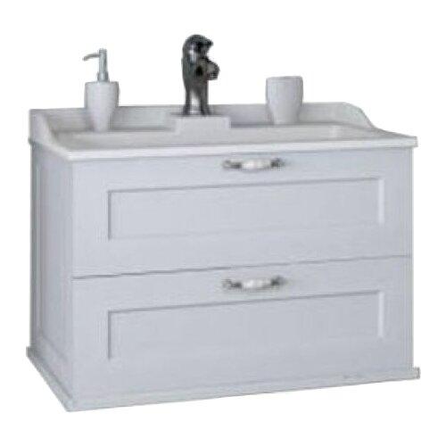 Тумба для ванной комнаты АКВАТОН Леон (1A187001LBPR0/1A186301LBPS0/1A186301LBPR0), ШхГхВ: 80х45х44 см, цвет: белый дуб мебель для ванной акватон леон 80 дуб бежевый