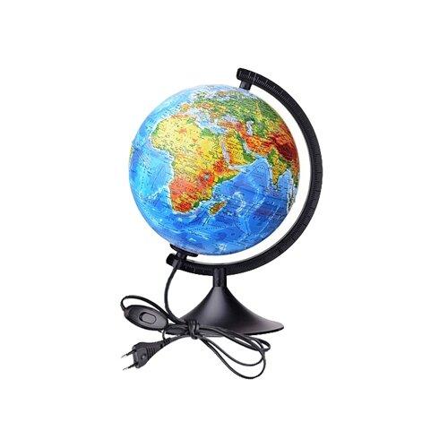 Глобус физико-политический Globen Классик 210 мм (К012100089) черный
