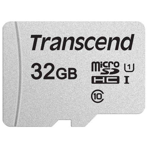 Фото - Карта памяти Transcend microSDHC 300S Class 10 UHS-I U1 32GB (TS32GUSD300S) карта памяти 32gb transcend high capacity class 10 uhs class 1 secure digital ts32gsdhc10u1
