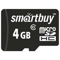 Карта памяти SmartBuy microSDHC Class 10 4GB + SD adapter