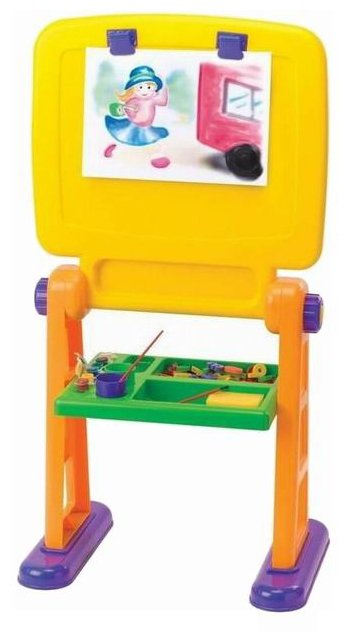 Доска для рисования детская PlayGo двухсторонняя (7371)