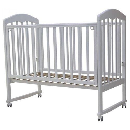 Кроватка Топотушки Сильвия-2 (колесо) (качалка), на полозьях белый кроватка гандылян дашенька колесо качалка белый