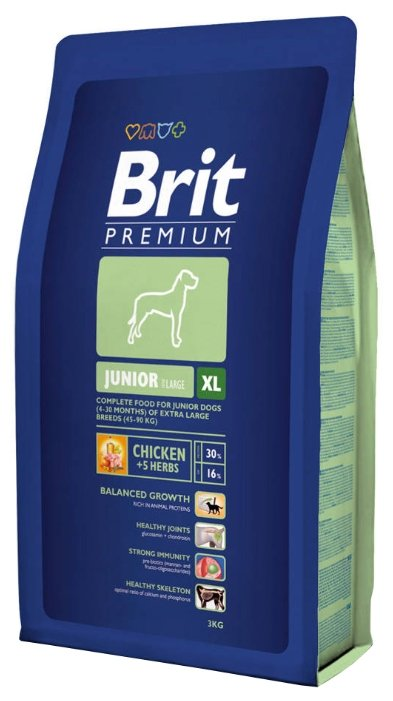 Корм для щенков Brit Premium курица 3 кг (для крупных пород)
