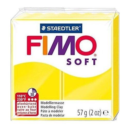 Купить Полимерная глина FIMO Soft запекаемая лимонный (8020-10), 57 г, Глина