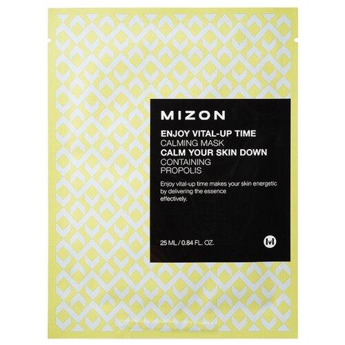 Mizon Enjoy Vital-Up Time Calming Mask успокаивающая тканевая маска с прополисом, 25 млМаски<br>