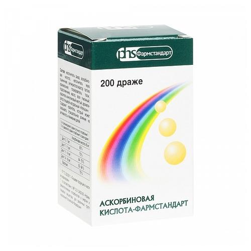 Характеристики модели Аскорбиновая кислота-фармстандарт драже 0,25 №200 на Яндекс.Маркете