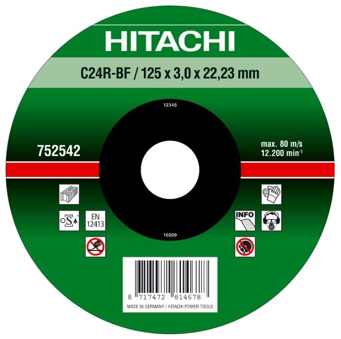 Диск отрезной 125x3x22.23 Hitachi 752542 1 шт.