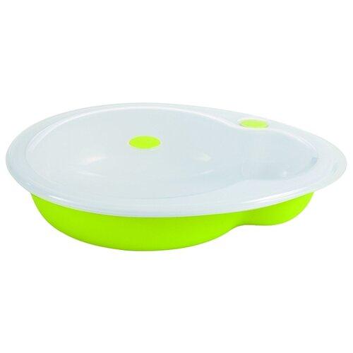 Тарелка Bebe confort герметичная с крышкой зеленый