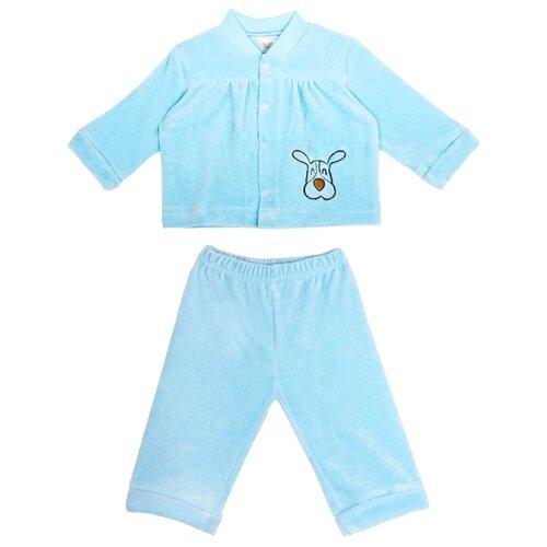 Комплект одежды KotMarKot размер 68, голубой комплект одежды клякса размер 68 голубой