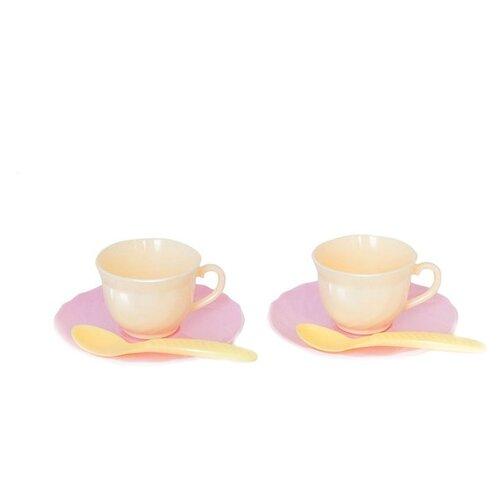 """Набор посуды Росигрушка Набор посуды Чайный набор """"TWO TEA"""" бежевый/желтый/розовый"""