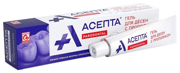 Зубной гель Асепта для десен с прополисом 10 г