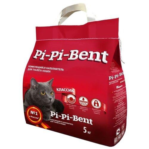 Комкующийся наполнитель Pi-Pi-Bent Классик, 5 кг комкующийся наполнитель pi pi bent классик 10 кг