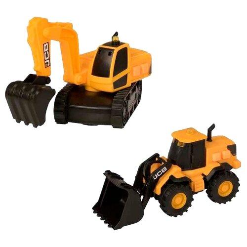 Купить Набор техники HTI JCB (1416667) желтый, Машинки и техника