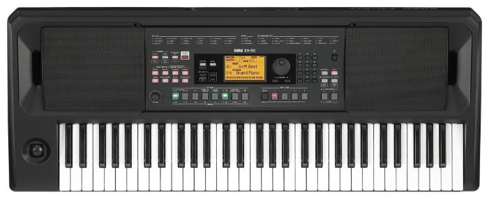 KORG EK-50 синтезатор с автоаккомпаниментом 61 клавиша, полифония 64 голоса, подставка для нот
