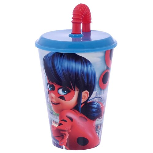 Фото - Stor Стакан пластиковый с соломинкой и крышкой спортивный 430 мл Леди Баг stor тарелка леди баг 23 см красный