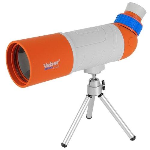 Фото - Зрительная труба Veber Эврика 12x60 серый/оранжевый бинокль veber эврика 6x21 серый оранжевый